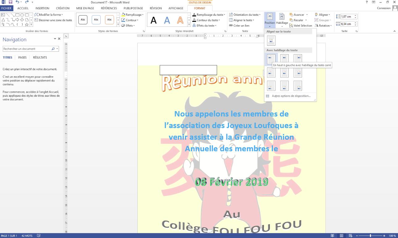 Využitím jeho funkcí lze chytře vytvořit plakát s aplikací Word