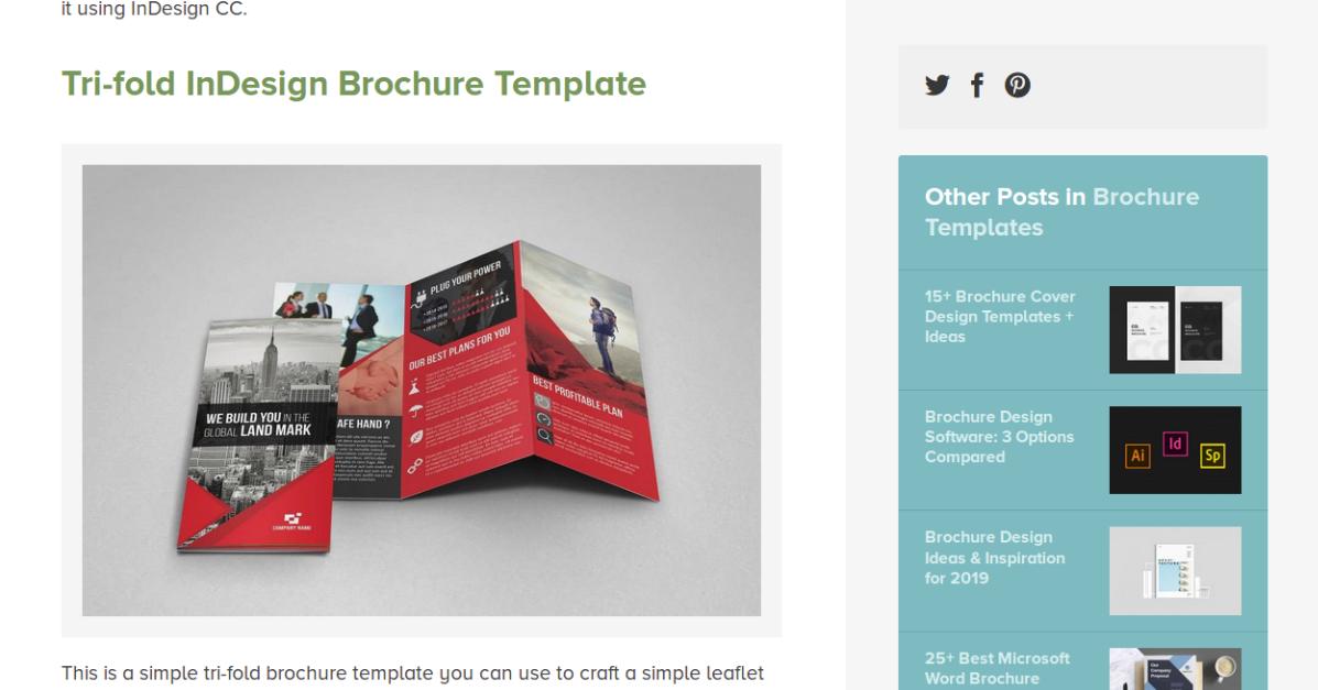 En Designshak, acceda a 25 modelos de folletos comerciales y destaque en su negocio.