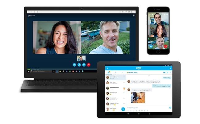 Skype je k dispozici na počítači, smartphonu a tabletu