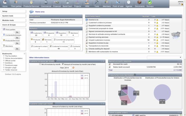 Dolibarr, software pro fakturaci s otevřeným zdrojovým kódem