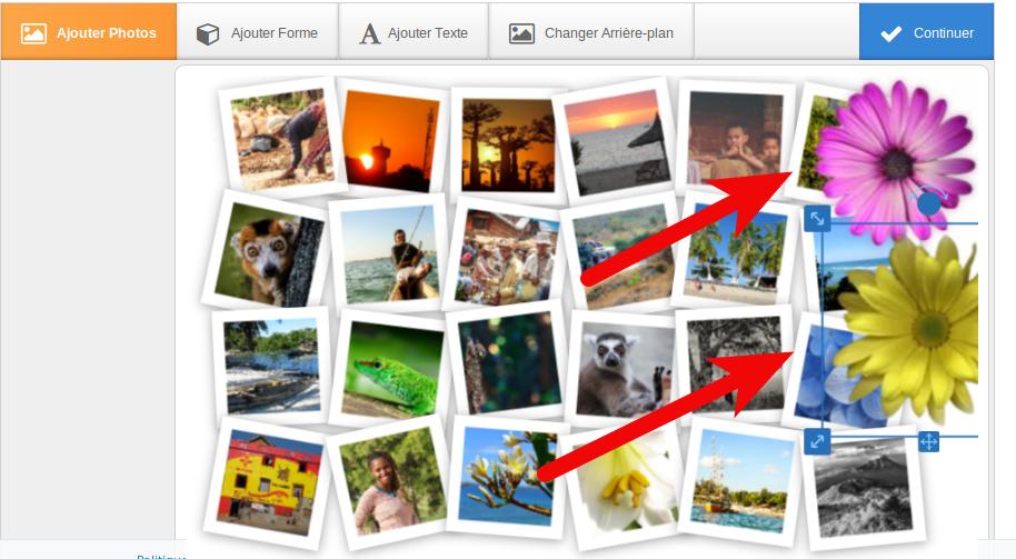 Añade tantas formas como quieras para darle más estilo a tu pelador de fotos.