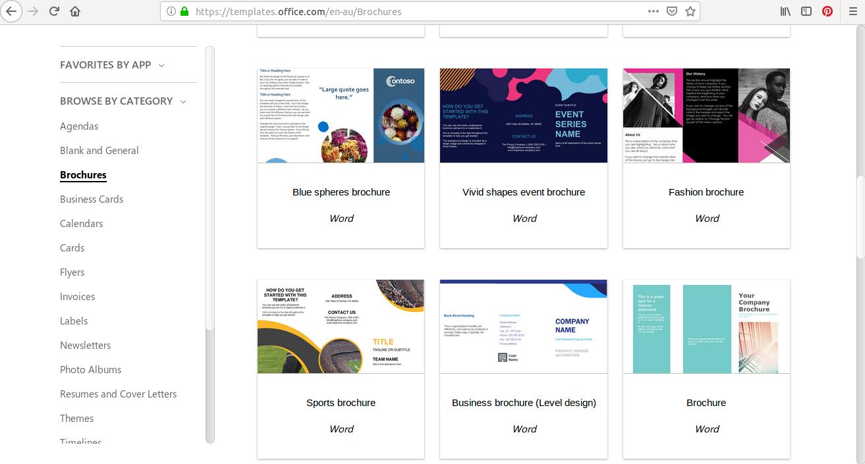 Stáhněte si zdarma přizpůsobitelné šablony trojnásobné brožury z Office, vyhledejte vzorovou brožuru Word