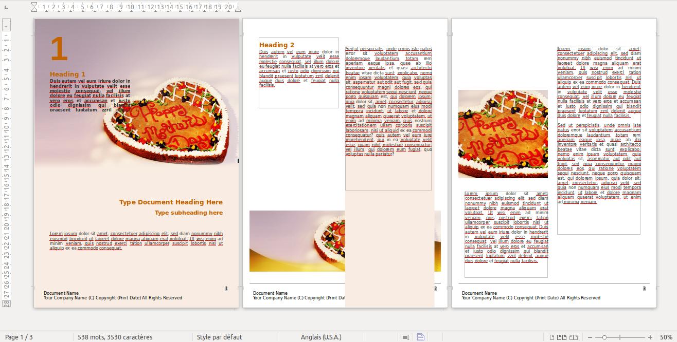 Můžete si stáhnout ukázkovou brožuru Word a upravit ji podle svého přání v textovém editoru, jako je tento!