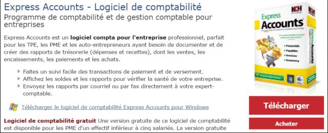 Express Accounts, účetnický software zdarma