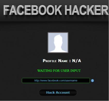 """Software """"Facebook hacking"""" původně požaduje, aby byl odkaz na účet napaden hackerem"""