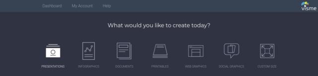 Presentación, gráficos por ordenador, ebook o web, la elección es amplia con Visme.