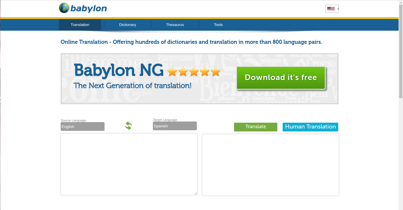 Muchos clientes están satisfechos con el software gratuito de traducción en línea de Babylon