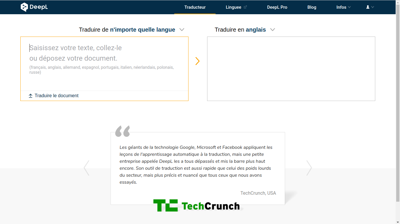 DeepL Traducir un software de traducción más que al estándar de Google Translate
