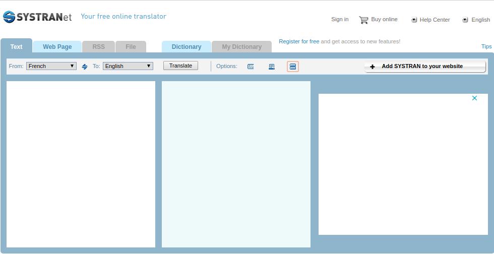 SYSTRANet es tan fácil de usar como Google Translate