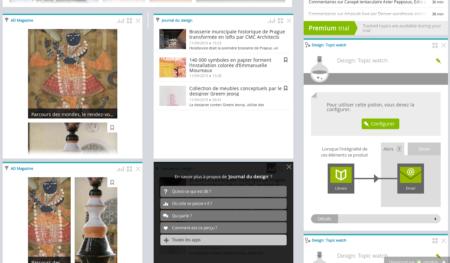 Una prueba del tema de diseño en Netvibes, uno de los softwares para autoempresarios para el monitoreo de medios y las aplicaciones que puede solicitar.