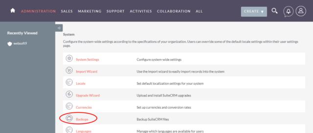 Údržba bezplatného softwaru CRM SuiteCRM