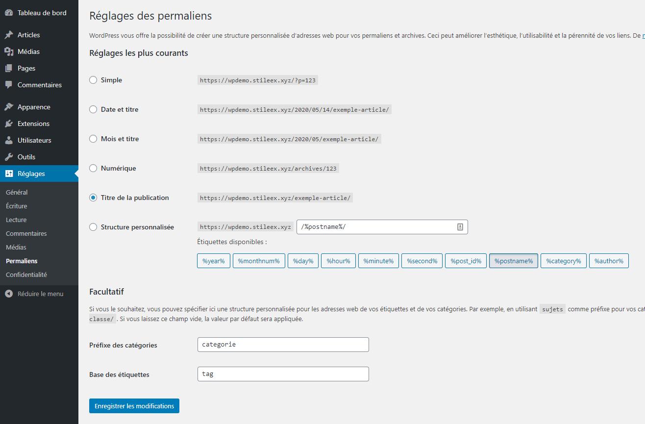 Paramétrez les permaliens de votre site WordPress