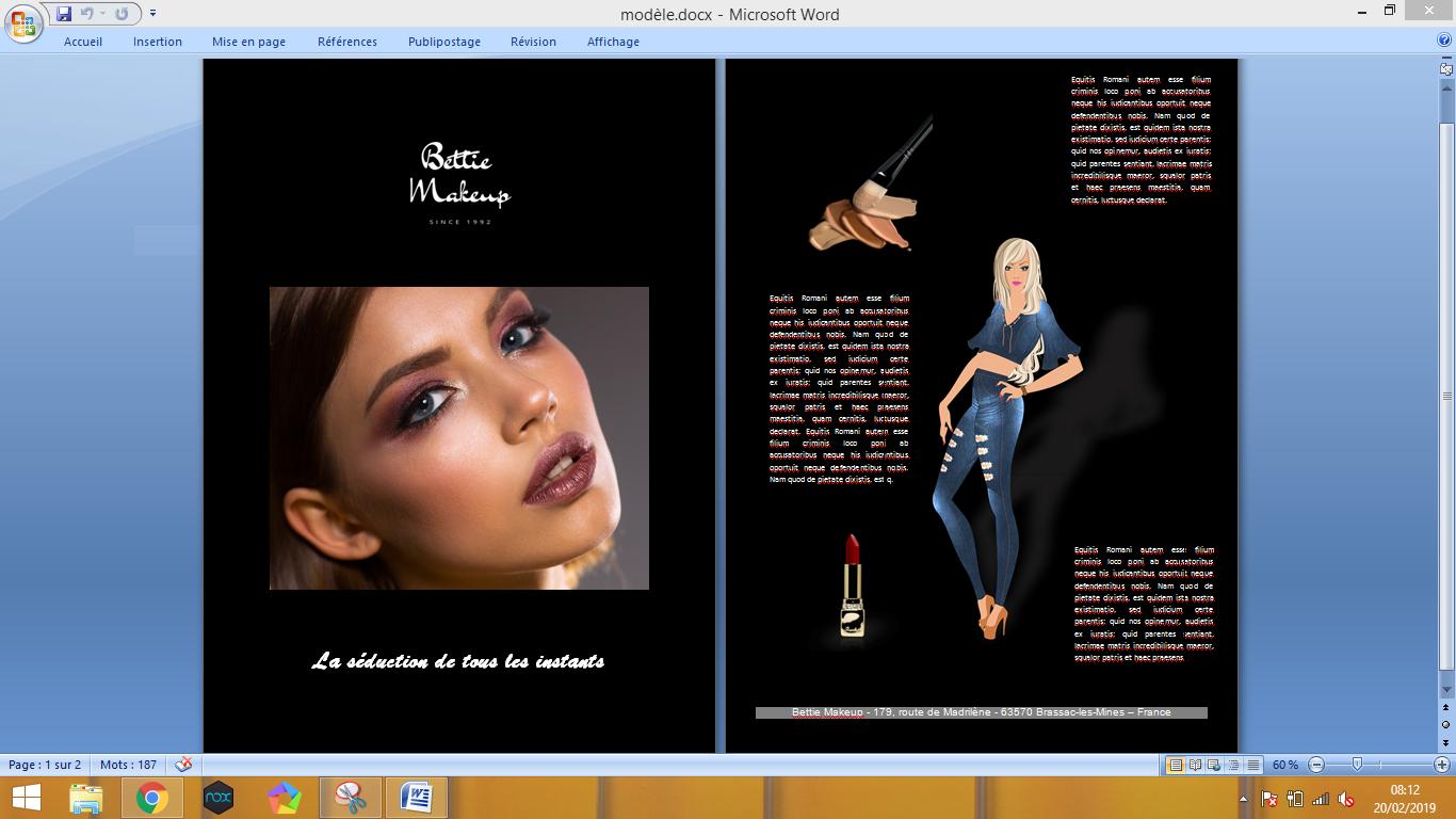¿Cómo hacer un folleto comercial en Word? Así:)