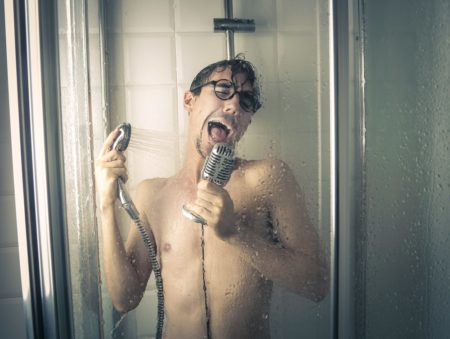 In addition to a feeling of well-being, a good shower can make you discover hidden singing talents:p
