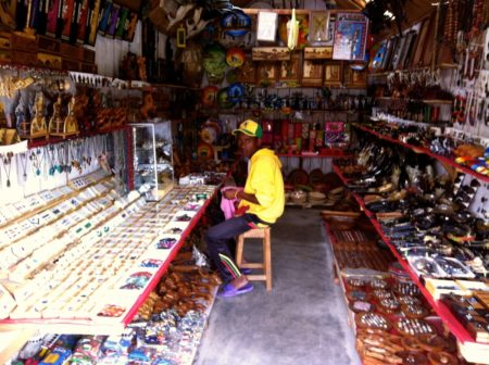 The craft market of Andravoahangy has a lot of Malagasy confection products.