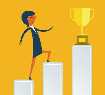 A medida que una mujer sube la escalera, puede ir más allá de la igualdad de género.