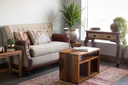 Buy new furniture and give your living room a new look.