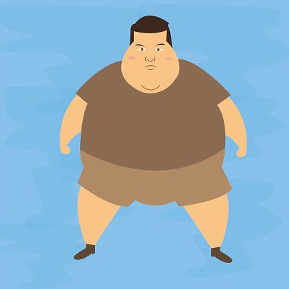 """Would seeing a fat man be more """"normal"""" than a fat woman?"""