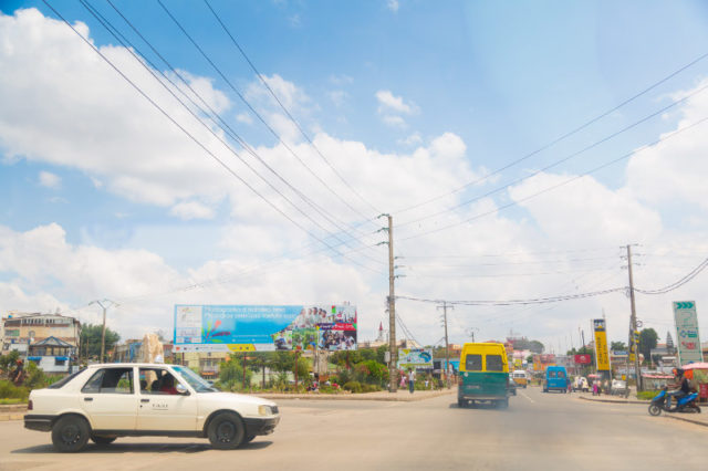 Advertisements in the streets of Antananarivo!