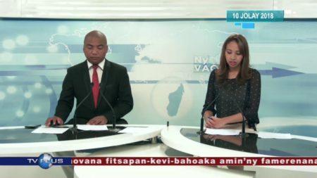 """""""Ny Vaovao"""", el telediario de TV Plus Madagascar parece estar fuera de control de los programas de noticias más populares de la capital."""