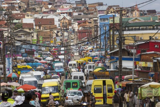Atascos en Antananarivo