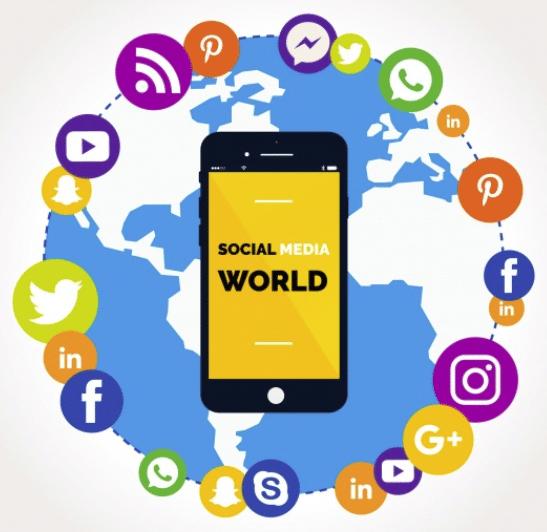 Konzultace sociálních sítí na mobilních náhradách zdaleka na počítači