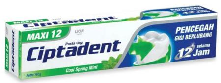 Ciptadent: nejpoužívanější značka zubní pasty Antananarivo