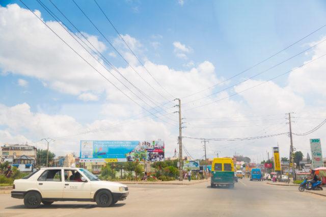 Reklamy v ulicích Antananarivo Reklamy v ulicích Antananarivo!