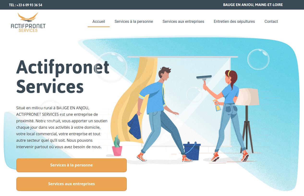 Exemple d'un site Internet vitrine créé par une agence digitale innovante